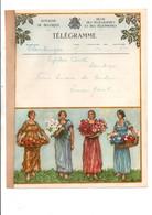 BELGIQUE TELEGRAMMES FEMMES ET FLEURS - Telegraph
