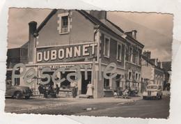 41 LOIR & CHER - CP ANIMEE THESEE - CAFE DE LA GARE - EDITION AIGNAN & BERNARD à TOURS - CIRCULEE EN 1959 - AUTOMOBILES - Altri Comuni