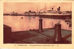 50 - Manche  -  CHERBOURG  -transbordeur Et Gare Maritime - Cherbourg
