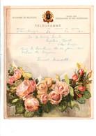 BELGIQUE TELEGRAMME ROSES - Telegraph