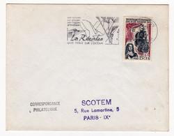 Lettre La Réunion Tricentenaire Du Peuplement De Île Bourbon Flamme La Réunion Une Perle Sur L'Océan - Cartas