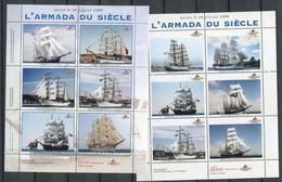 """Bloc De 9 Vignettes  """" L'armada Du Siècle""""  Rouen 9-18 Juillet 1999 - Lot 1 - Altri"""