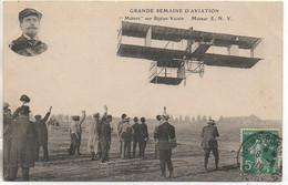 "51 REIMS GRANDE SEMAINE D'AVIATION  ""Métrot"" Sur Biplan Voisin - Riunioni"
