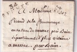FRANCE 1814 LETTRE DE PLOERMEL AVEC CORRESPONDANCE - 1801-1848: Precursors XIX