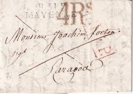 FRANCE 1818 LETTRE DE MAYENNE AVEC CORRESPONDANCE - 1801-1848: Precursors XIX