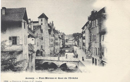 74 ANNECY CANAL DU THIOU PONT MORENS QUAI DE L EVECHE  Editeur CHARNAUX  N° 1362 - Annecy