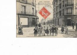 92 - VANVES - Carrefour Des Rues Du Plateau Et Sadi-Carnot. Animée, BE. - Vanves