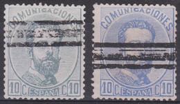 1872 AMADEO I EDIFIL 121  Barrado Variedad Gris Azulado Raros - Usados