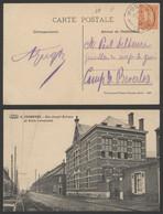 Carte Postale - N°6 Frameries : Rue Joseph Dufrane Et école Communale - Frameries