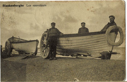 Blankenberghe Les Sauveteurs Circulée En 1911 - Blankenberge