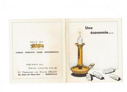 Document Publicité DELC'OIL - Compagnie HUILES DELCO MARSEILLE - Bougie Chandelle - Reclame