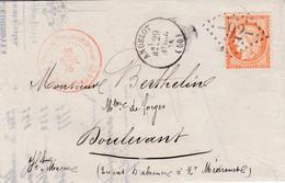 N° 38 S / L Avec Texte T.P Ob GC 92 + T 16 Andelot 29 Avril 75 - 1849-1876: Klassieke Periode