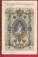Image Pieuse Holy Card Double Souvenir Notre Dame D' Espérance 25-03-1916 Saint-Brieuc - Imp. Oberthür Rennes - Andachtsbilder