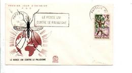 POLYNESIE 1 ER JOUR FLAMME LUTTE CONTRE LE PALUDISME 1962 - Covers & Documents