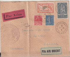 "FRANCE : PA . AIR ORIENT . "" PARIS - MARSEILLE - SAIGON "" .  1931 . - Luchtpost"