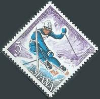 Espagne YT N°2047 Championnats Du Monde De Ski 1977 Sierra Nevada Neuf ** - 1971-80 Nuovi