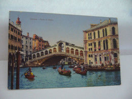 VENEZIA  VENICE VENISE ITALIA ITALIE VENETO PONTE DI RIALTO CPA - Venetië (Venice)