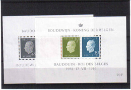 BLOK 50/51 Koning Boudewijn  POSTFRIS** 1976 - Blocs 1962-....