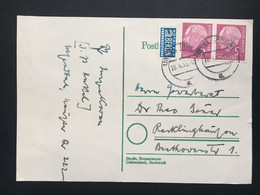 GERMANY 1955 Postcard To Recklinghausen + Tax Stamp - Covers & Documents