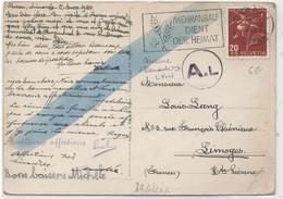 SUISSE - N° 401 / CARTE POSTALE  Pour LA FRANCE - Covers & Documents