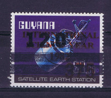 Guyana Space 1983 Overprint On Intelsat Stamp From 1997  Lot #3 - Guyana (1966-...)