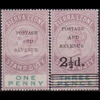 SIERRA LEONE 1897 - Scott# 47-8 Queen Opt. 1-2.5p LH - Sierra Leone (1961-...)