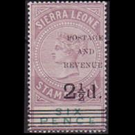 SIERRA LEONE 1897 - Scott# 52 Queen Surch. 2.5p LH - Sierra Leone (1961-...)