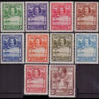 SIERRA LEONE 1932 - Scott# 140-9 Rice Field 1/2p-2s LH - Sierra Leone (1961-...)