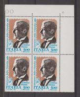 REPUBBLICA:  1989  EMILIO  DIENA  -  £. 500  POLICROMO  BL. 4  N. -  SASS. 1886 - Hojas Bloque