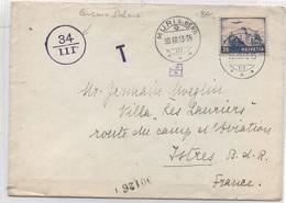 SUISSE - GUERRE 39-45 - LETTRE DE SUISSE Pour ISTRES - P A N° 27 - Obl C à D  MURI ( BERNE) 30- III-43 - Covers & Documents
