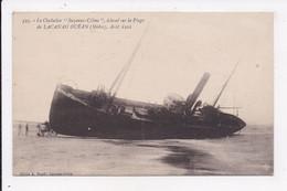 """CP 33 LACANAU OCEAN Le Chalutier """"Suzanne Céline"""" échoué Sur La Plage - Other Municipalities"""