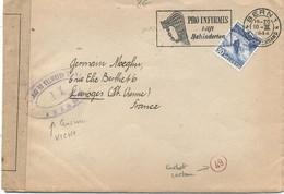 SUISSE -  LETTRE Pour LA FRANCE - N° 295 Obl - Covers & Documents