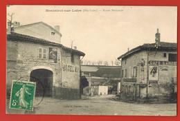 MONISTROL-sur-LOIRE - Haute-Loire - CPA Route Nationale - Café -Hotel  -voyagée 1912 - Monistrol Sur Loire