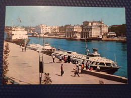 """Russia. """"RAKETA SHIP In Sevastopol - Old USSR Postcard -  Hydrofoil / Ship  - 1975 - Russia"""