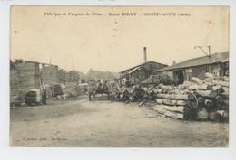 SAINTE SAVINE - Carte PUB FABRIQUE DE PARQUETS EN CHENE E. BILLY ,  45 & 60 Route De Sens - Other Municipalities