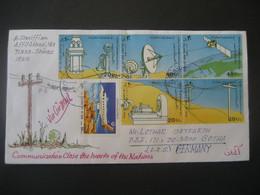 Iran 1992- Flugpost-Brief Mit Vielen Sondermarken Gelaufen Von Shiraz Nach Gotha - Iran