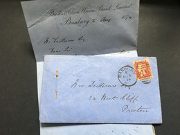 GB Victoria 1874 Entire Banbury Duplex To Preston Tied With 1d Red Plate 169 - Covers & Documents
