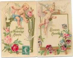 ANGES - Lot 2 Cpa ANGELOTS Au Dessus De Palette Peintre Et Livre - Cartes Glacées - Anges