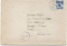 SUISSE -  N° 295  / LETTRE Pour LA FRANCE ( Limoges ) - Covers & Documents