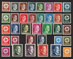 Adolf Hitler 1-80 Pf. + 1-5 Mark ** + Kreuze 3-50 Pf. ** - Nuovi
