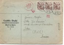 SUISSE -  N° 348  / LETTRE Pour LA FRANCE ( Istres) - Covers & Documents