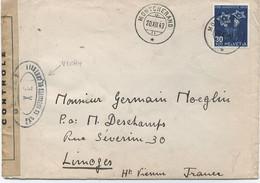 SUISSE -  N° 391   / LETTRE Pour LA FRANCE ( Limoges) - Covers & Documents