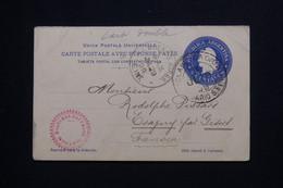 ARGENTINE - Entier Postal + Réponse De Rosario Pour La France En 1899  - L 101625 - Postal Stationery