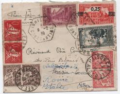 Algérie Rare Lettre Agence Postale IGHIL-ALI Taxée + Complément D'affranchissement Pour Réexpédition Tarif UPU 1939 - Lettres & Documents