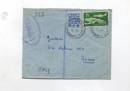 5CRT211 - IRLANDA 2 Settembre 1961, Lettera Commerciale Per L' Italia - Covers & Documents