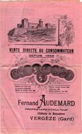 FERNAND AUDEMARD Propriétaire Viticulteur Château De Boissières à Vergèze ( GARD ) - Werbung