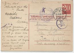 SUISSE -  CARTE POSTALE ( ENTIER)Pour LA FRANCE ( Istres ) - Covers & Documents