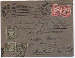 Lettre (erreur Date 1930!) > Secteur Postal 180 WIESBADEN ALLEMAGNE Taxée 1er Mai 1926 Ancien Tarif Réexpédiée HAUT-RHIN - 1859-1955 Lettres & Documents