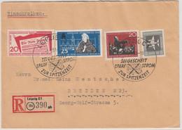 DDR - Leipzig Strom Sparen 1959, Handwerbestpl. A. Einschreibebrief N. Dresden - Unclassified