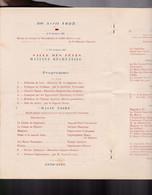Un Programme   Du  29 Et 30 Avril 1937   : Anniversaire Du Combat De Camerone 4 Pages Pas De Photos - Programmi